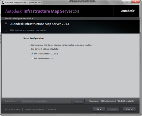 Install Autodesk Infrastructure Map Server 2013 step by step