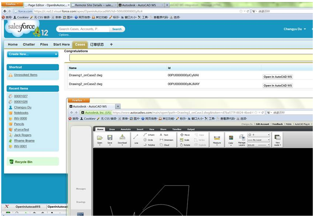 Integration of Salesforce com and AutoCAD WS - Part 7
