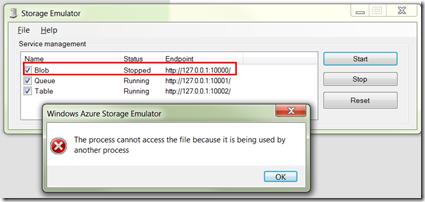 Windows Azure Storage Emulator Cannot Startup