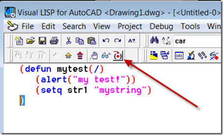 Determine in which line of AutoLISP code an error exists - AutoCAD