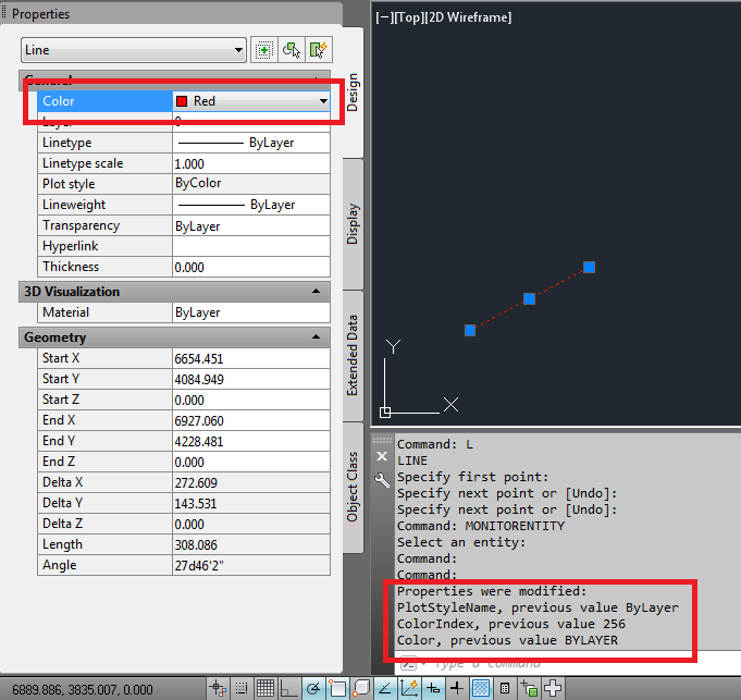 Find which properties changed on modified event - AutoCAD DevBlog