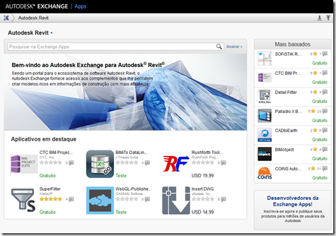 Autodesk Exchange Store in Portuguese
