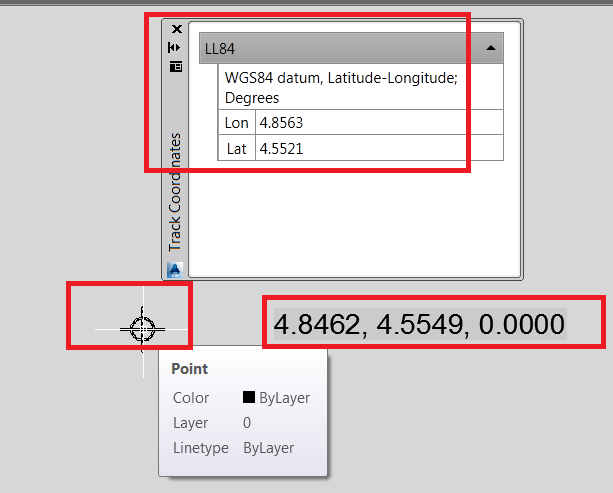 AutoCAD FIELD Expression to display Lat/Long value as Text