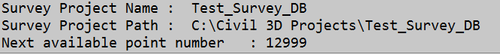 Civil3D_Survey_Database_Result