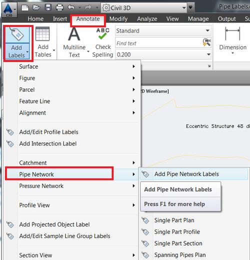 Creating AutoCAD Civil 3D Pipe Label using  NET API