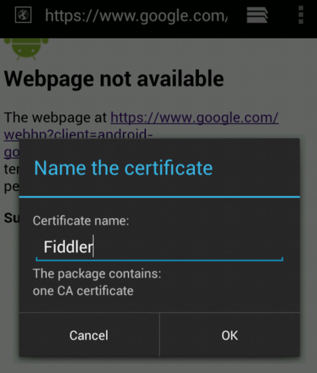Sniffing HTTP traffic on an Android device