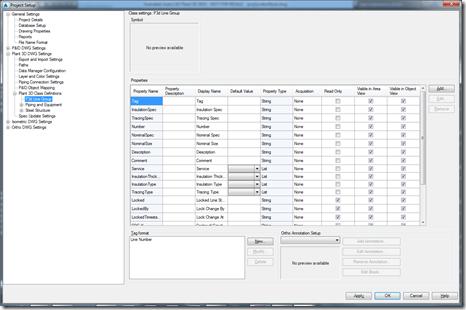Plant 3D project setup dialog