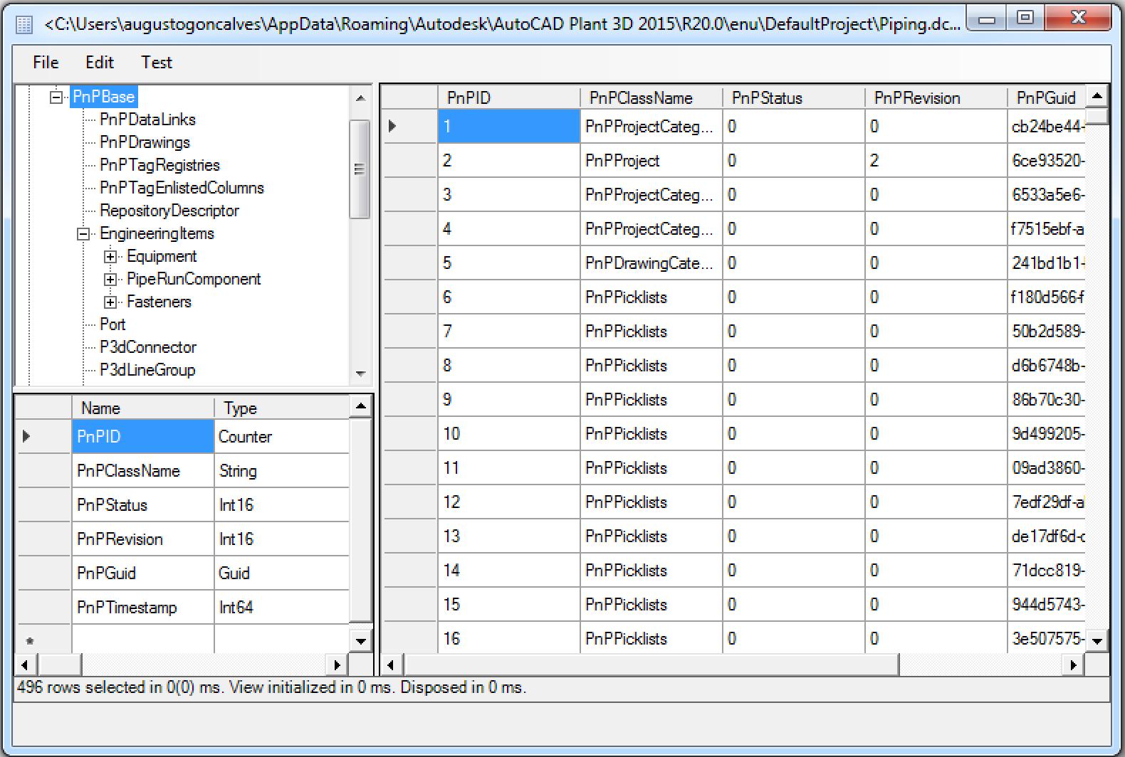 Snoop Plant 3D database with PnPTest - AutoCAD DevBlog