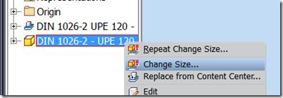 Change Size command