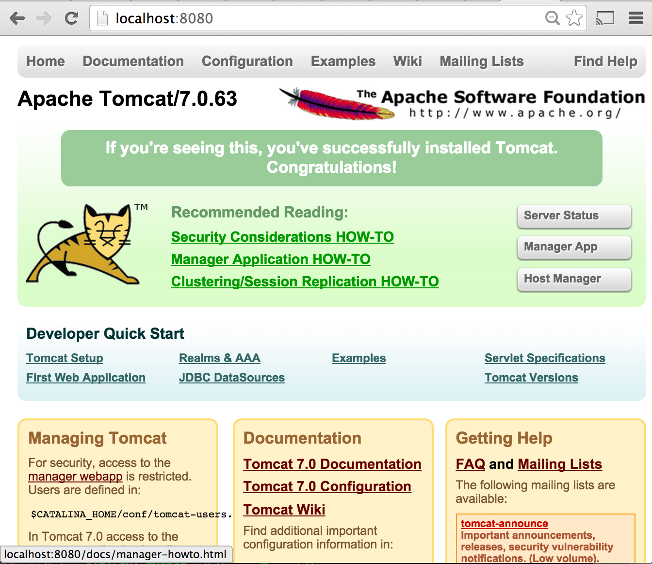 Become a java ee developer part i tomcat setup and my first servlet if you try to take a look at the server status or manager app it will prompt you for login and password by default tomcat is installed without user baditri Gallery