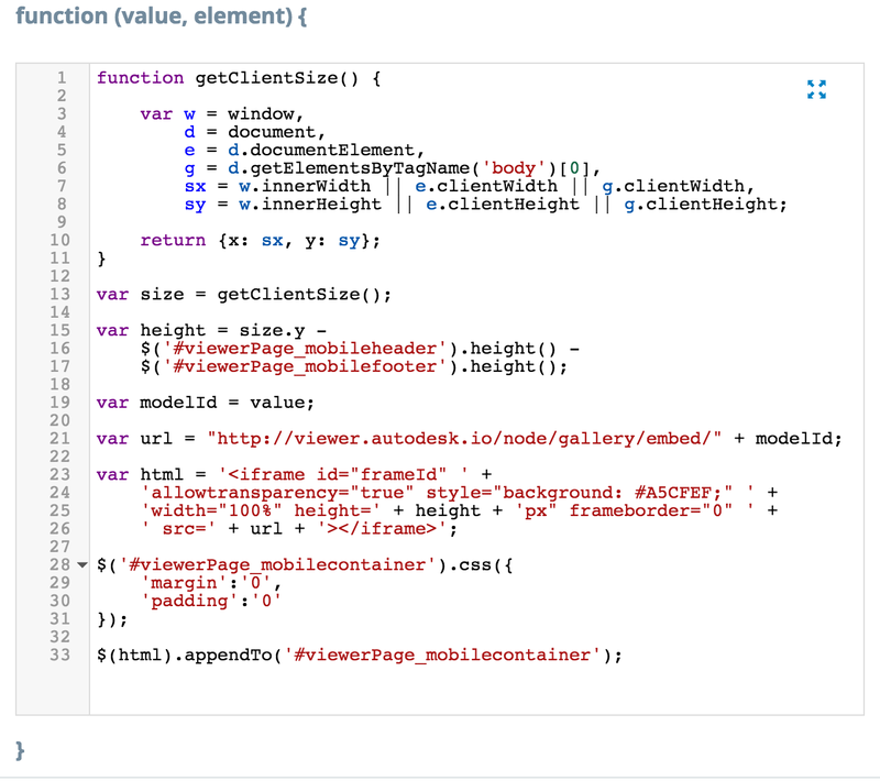 Iframe code
