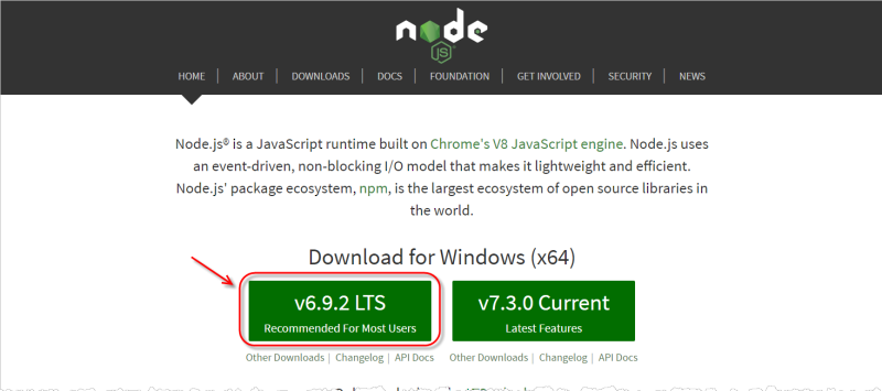 Nodejs_download_page