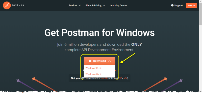 Postman_download_page